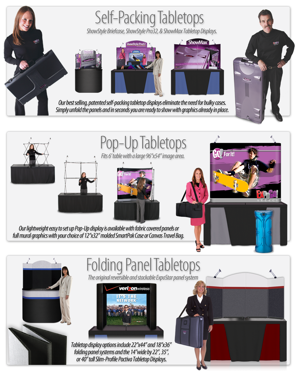 EXPOGO Tabletop Displays